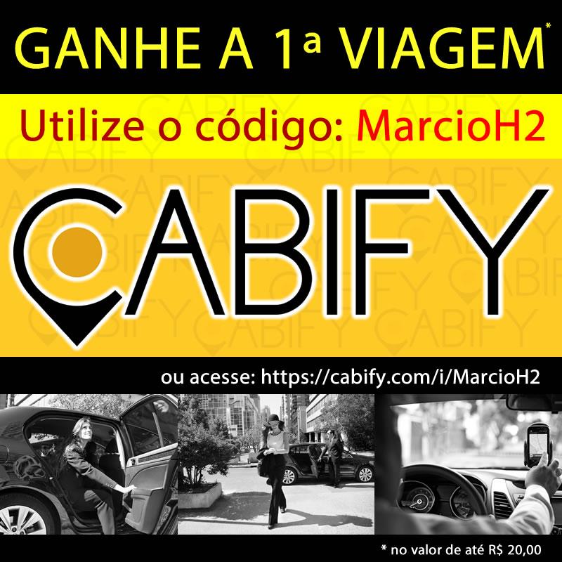Cupom de Desconto Cabify - Grátis Código Voucher